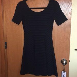 NORDSTROM LUSH navy and black skater dress